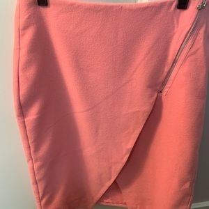NWT Loft pink wool skirt